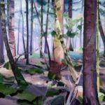 Forêts - Olivier Morel - Forêt 23, acrylique/toile, 130 x 162 cm, 2017