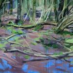 Forêts - Olivier Morel - Forêt 2, acrylique/toile, 130 x 195 cm, 2015 [collection particulière]