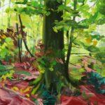 Forêts - Olivier Morel - Forêt 3, acrylique/toile, 130 x 162 cm, 2015 [collection particulière]