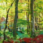 Forêts - Olivier Morel - Forêt 4, acrylique/toile, 130 x 162 cm, 2015