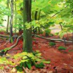 Forêts - Olivier Morel - Forêt 5, acrylique/toile, 130 x 162 cm, 2015