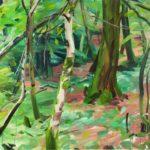 Forêts - Olivier Morel - Forêt 6, acrylique/toile, 97 x 130 cm, 2015 [collection particulière]