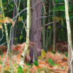 Forêts - Olivier Morel - Forêt 7, acrylique/toile, 97 x 130 cm, 2015