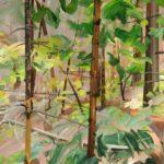Forêts - Olivier Morel - Forêt 9, acrylique/toile, 97 x 130 cm, 2015