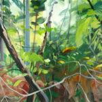 Forêts - Olivier Morel - Forêt 10, acrylique/toile, 97 x 130 cm, 2015