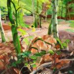 Forêts - Olivier Morel - Forêt 11, acrylique/toile, 97 x 130 cm, 2015