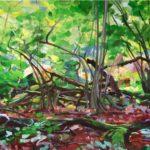 Forêts - Olivier Morel - Forêt 12, acrylique/toile, 150 x 200 cm, 2015