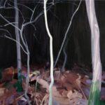 Olivier Morel - Forêt 13, le 13 novembre, acrylique/toile, 97 x 130 cm, 2015