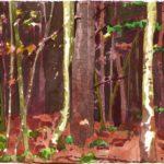 Forêts - Olivier Morel, Forêt aq 2, aquarelle/papier, 13 x 16,5 cm, 2015
