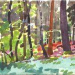 Forêts - Olivier Morel, Forêt aq 4, aquarelle/papier, 13 x 16,5 cm, 2015