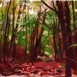 Forêts - Olivier Morel, Forêt aq 10, aquarelle/papier, 13 x 16,5 cm, 2015