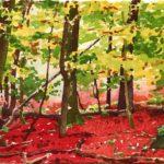 Forêts - Olivier Morel, Forêt aq 11, aquarelle/papier, 13 x 16,5 cm, 2015