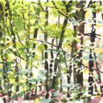 Forêts - Olivier Morel, Forêt aq 15, aquarelle/papier, 13 x 16,5 cm, 2015