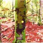 Forêts - Olivier Morel, Forêt aq 16, aquarelle/papier, 13 x 16,5 cm, 2015