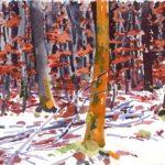 Forêts - Olivier Morel, Forêt aq 18, aquarelle/papier, 13 x 16,5 cm, 2015