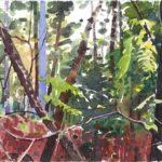 Forêts - Olivier Morel, Forêt aq 20, aquarelle/papier, 13 x 16,5 cm, 2015