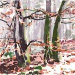 Forêts - Olivier Morel, Forêt aq 22, aquarelle/papier, 13 x 16,5 cm, 2015
