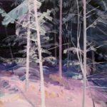 Olivier Morel - Forêt noire 1, acrylique/toile, 46 x 55 cm, 2017