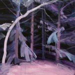 Olivier Morel - Forêt noire 2, acrylique/toile, 46 x 55 cm, 2017