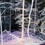Olivier Morel - Forêt noire 3, acrylique/toile, 46 x 55 cm, 2017