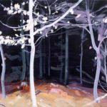 Olivier Morel - Forêt noire 4, acrylique/toile, 46 x 55 cm, 2017