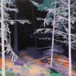 Olivier Morel - Forêt noire 5, acrylique/toile, 46 x 55 cm, 2017