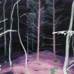 Olivier Morel - Forêt noire 6, acrylique/toile, 46 x 55 cm, 2017