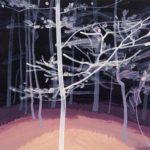 Olivier Morel - Forêt noire 7, acrylique/toile, 46 x 55 cm, 2017