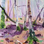 Forêts - Olivier Morel - Forêt 14, acrylique/toile, 46 x 55 cm, 2017