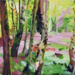 Forêts - Olivier Morel - Forêt 15, acrylique/toile, 46 x 55 cm, 2017