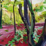 Forêts - Olivier Morel - Forêt 16, acrylique/toile, 46 x 55 cm, 2017