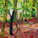 Forêts - Olivier Morel - Forêt 17, acrylique/toile, 46 x 55 cm, 2017