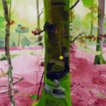 Forêts - Olivier Morel - Forêt 18, acrylique/toile, 46 x 55 cm, 2017