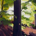 Forêts - Olivier Morel - Forêt 19, acrylique/toile, 46 x 55 cm, 2017