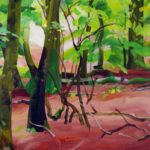 Forêts - Olivier Morel - Forêt 20, acrylique/toile, 97 x 130 cm, 2017