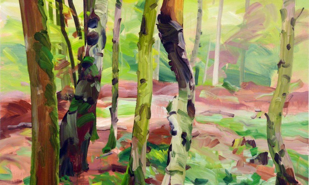 Forêts - Olivier Morel - Forêt 21, acrylique/toile, 97 x 130 cm, 2017