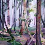 Forêts - Olivier Morel - Forêt 22, acrylique/toile, 46 x 55 cm, 2017