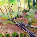 Forêts - Olivier Morel - Forêt 24, acrylique/toile, 46 x 55 cm, 2017