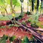 Forêts - Olivier Morel - Forêt 25, acrylique/toile, 130 x 162 cm, 2017