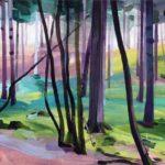 Forêts - Olivier Morel - Forêt 26, acrylique/toile, 46 x 55 cm, 2017