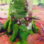 Forêts - Olivier Morel - Forêt 27, acrylique/toile, 46 x 55 cm, 2017