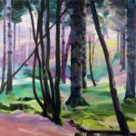 Forêts - Olivier Morel - Forêt 28, acrylique/toile, 130 x 162 cm, 2017