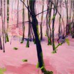 Forêts - Olivier Morel - Forêt 30, acrylique/toile, 46 x 55 cm, 2017