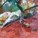 Forêts - Olivier Morel - Forêt 31, acrylique/toile, 38 x 55 cm, 2018