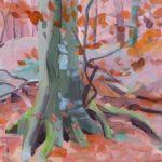 Forêts - Olivier Morel - Forêt 32, acrylique/toile, 38 x 55 cm, 2018