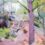 Forêts - Olivier Morel - Forêt 33, acrylique/toile, 38 x 55 cm, 2018