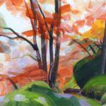 Forêts - Olivier Morel - Forêt 34, acrylique/toile, 38 x 55 cm, 2018