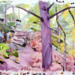 Forêts - Olivier Morel - Forêt 35, acrylique/toile, 150 x 210 cm, 2018