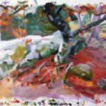 Forêts - Olivier Morel - Forêt 36, acrylique/toile, 150 x 210 cm, 2018