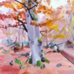 Forêts - Olivier Morel - Forêt 37, acrylique/toile, 40 x 40 cm, 2018